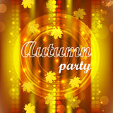 Autumn party Royalty Free Stock Image