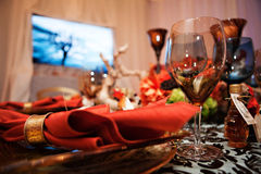 Autumn Party Tabletop Royalty Free Stock Photography