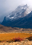 Autumn in Patagonia. Torres del Paine National Park Chile Stock Photo