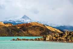 Autumn in Patagonia. The Torres del Paine National Park Stock Images