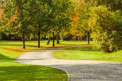 Autumn path. Royalty Free Stock Photography