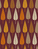 Autumn pattern. Autumn leaf retro styled seamless pattern Royalty Free Stock Images