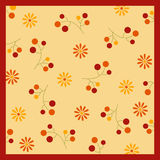 Autumn Pattern. A warm fall palete of berries and flowers Stock Photography