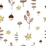 Autumn Pattern. With acorns Stock Photo