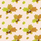 Autumn pattern. With acorns and leaves Royalty Free Stock Image