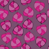 Autumn pattern. With pink leaves, pattern for textile and other decor stock illustration
