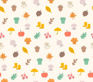 Autumn pattern stock illustration