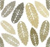 Autumn Pattern com folhas do Sorbus Fotos de Stock Royalty Free