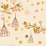 Autumn pattern. For design wrapping paper, scrapbooking, textiles, sites Stock Illustration