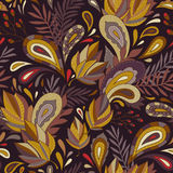 Autumn pattern. Elegant autumn pattern for your design and decoration Stock Photos