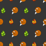 Autumn pattern with foxes Royalty Free Stock Photography