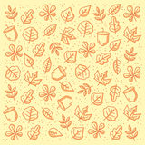 Autumn pattern royalty free stock image