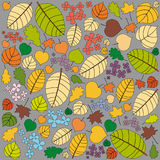 Autumn pattern with leaves Stock Photography