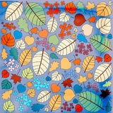Autumn pattern with leaves Royalty Free Stock Photo