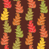 Autumn Pattern With Leaves Stock Images