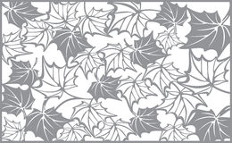 Autumn pattern, with maple leaves. Template for. Autumn pattern, with maple leaves. Fall Vector design background for cutting with a laser or plotter. Template Royalty Free Stock Photos
