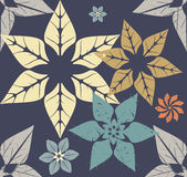 Autumn pattern with modern flowers. Seamless pattern with stylish flowers for your designs Royalty Free Stock Photo