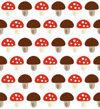 Autumn pattern with mushrooms. Seamless Autumn pattern with mushrooms Stock Photos