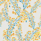 Autumn pattern in retro style Stock Photography