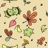Autumn pattern. Seamless abstract autumn abstract pattern Vector Illustration