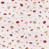 Autumn pattern. Seamless autumn pattern with tiny umbrellas in the rain Stock Image