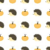 Pattern with hedgehog stock illustration