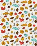Autumn Pattern Texture sans couture avec tiré par la main Images libres de droits