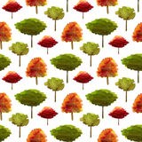 Autumn pattern with watercolor trees. Seamless print for fabric, wrapping paper and kids textile design. Autumn pattern with watercolor trees. Seamless print Royalty Free Stock Photography