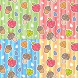 Autumn patterns vector illustration