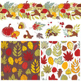 Autumn patterns and elements Royalty Free Stock Image