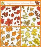 Autumn patterns Royalty Free Stock Photos