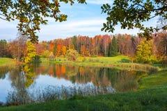 Autumn in Pavlovsky park, Pavlovsk, St. Petersburg, Russia stock photos