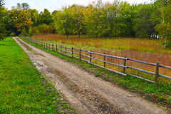 Autumn peace. A country road in a quiet part of Canada. In Manitoba stock image