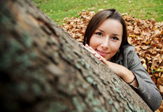 Autumn peace female Royalty Free Stock Photography