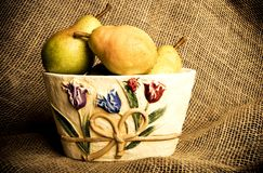 Autumn pears Royalty Free Stock Photos