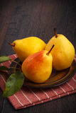 Autumn pears Royalty Free Stock Photography