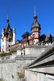 Autumn at The Peles Castle, Romania Stock Photo