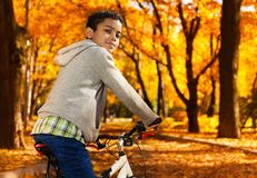 Autumn is perfect to ride a bike Royalty Free Stock Image
