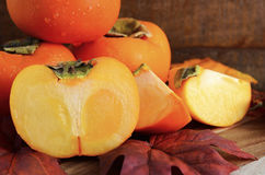Autumn persimmon fruit Royalty Free Stock Photography