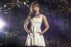 Autumn photo of beautiful woman. Royalty Free Stock Image