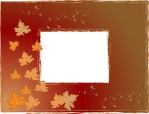 Autumn photo frame Stock Photography
