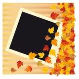 Autumn photo frame,  Stock Photo