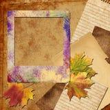 Autumn photo frame Stock Photos