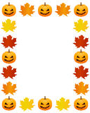 Autumn photo frame Stock Photos
