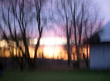 Autumn. This photo was taken at sunset. Effect by taking it and looks like a painting Stock Photo