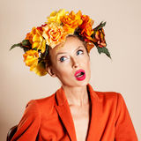 Autumn photo of young woman Royalty Free Stock Photo
