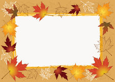 Autumn photoframework. Royalty Free Stock Images