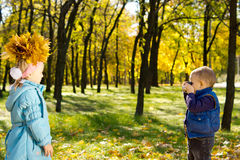 Autumn photography fun Royalty Free Stock Images