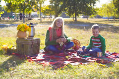 Autumn picnic Stock Images