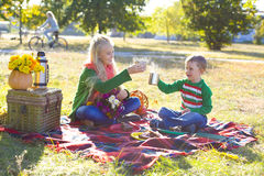 Autumn picnic Stock Image